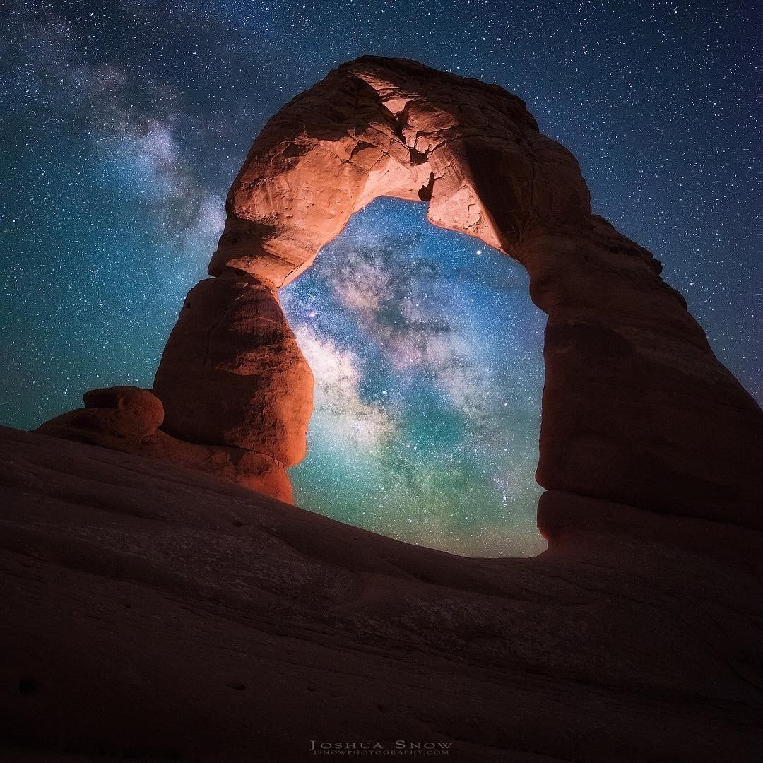 Joshua Snow at Delicate Arch...