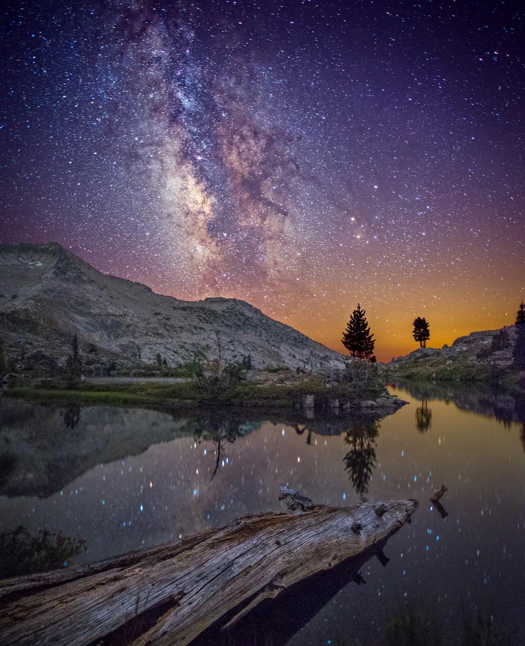 Daniel Sanculi in Desolation Wilderness...