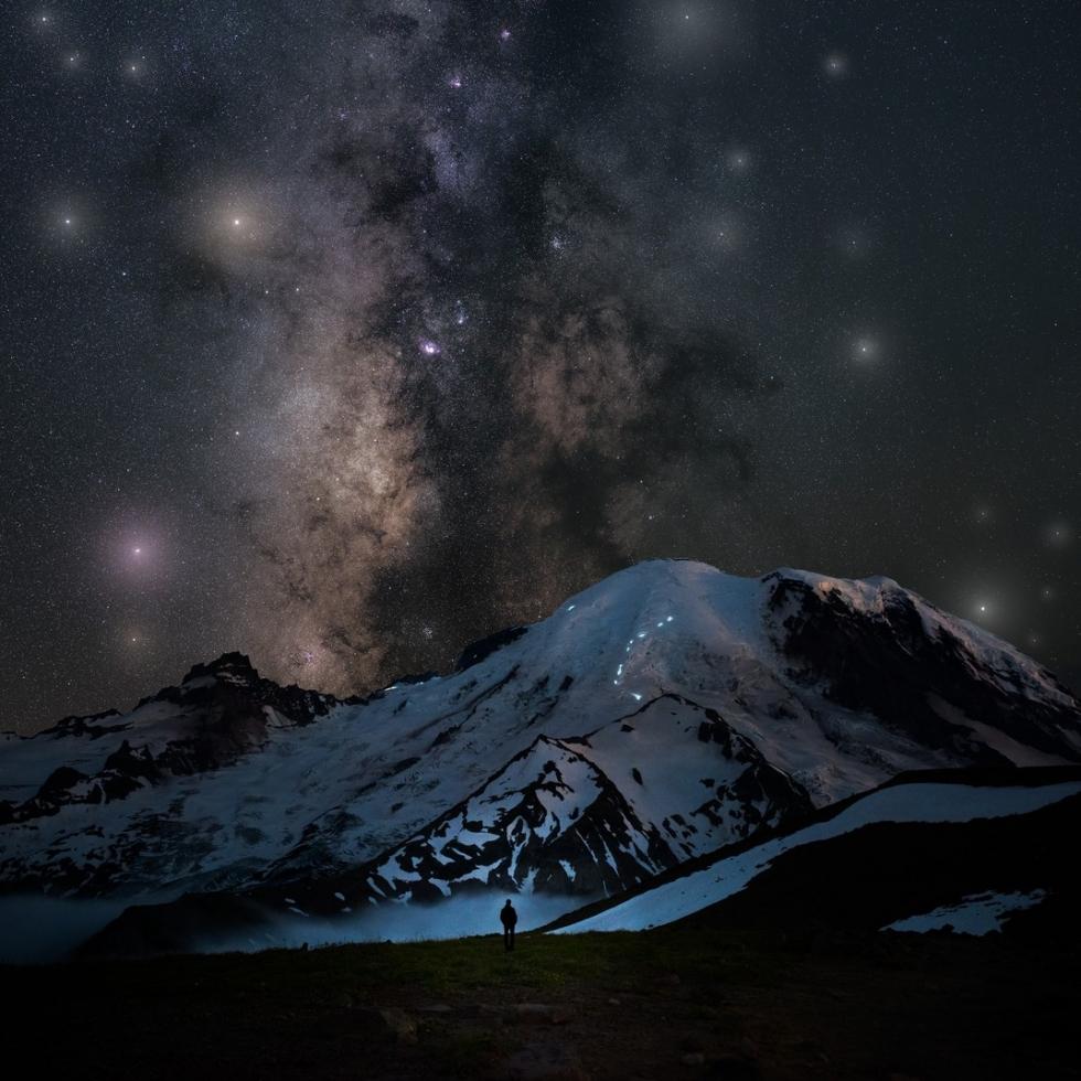 Derek Culver at Mount Rainier...