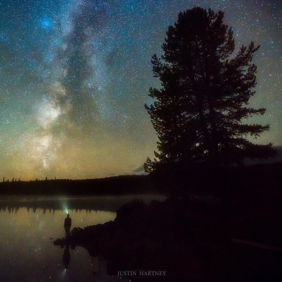 Justin Hartney at Sparks Lake...