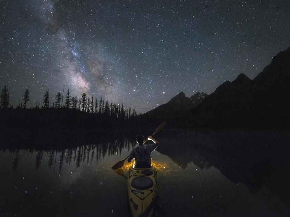 Garret Weintrob at String Lake...