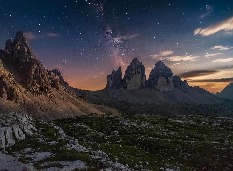 Ivan Pedretti in the Dolomites...