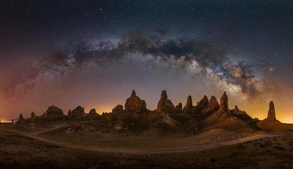 Moon Kyong at Trona Pinnacles...