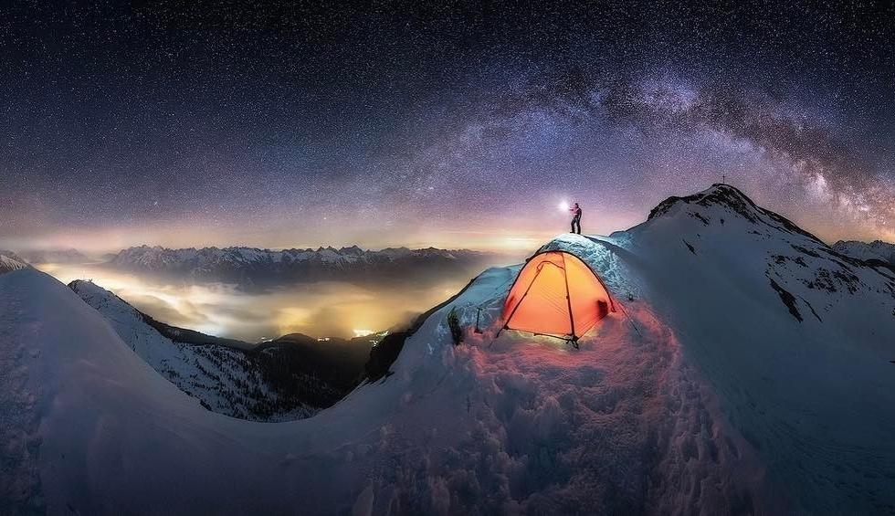 Nicholas Roemmelt on Mount Glanderspitze...