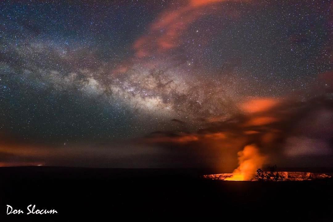Don Slocum at Hawaii Volcanos...