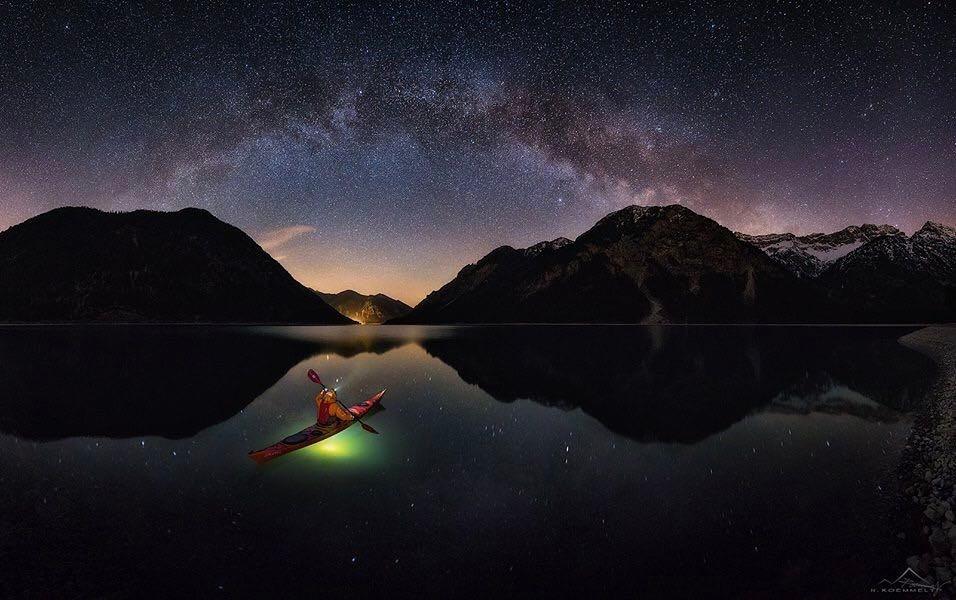 Nicholas Roemmelt on Lake Plansee...