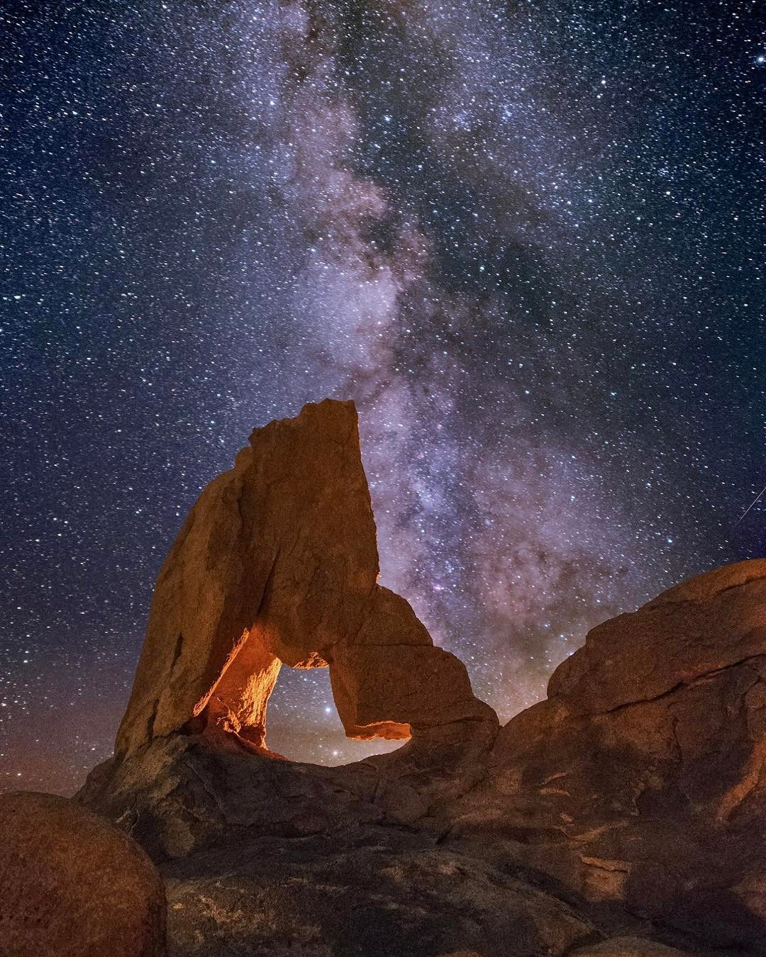 Wayne Pinkston at Boot Arch...