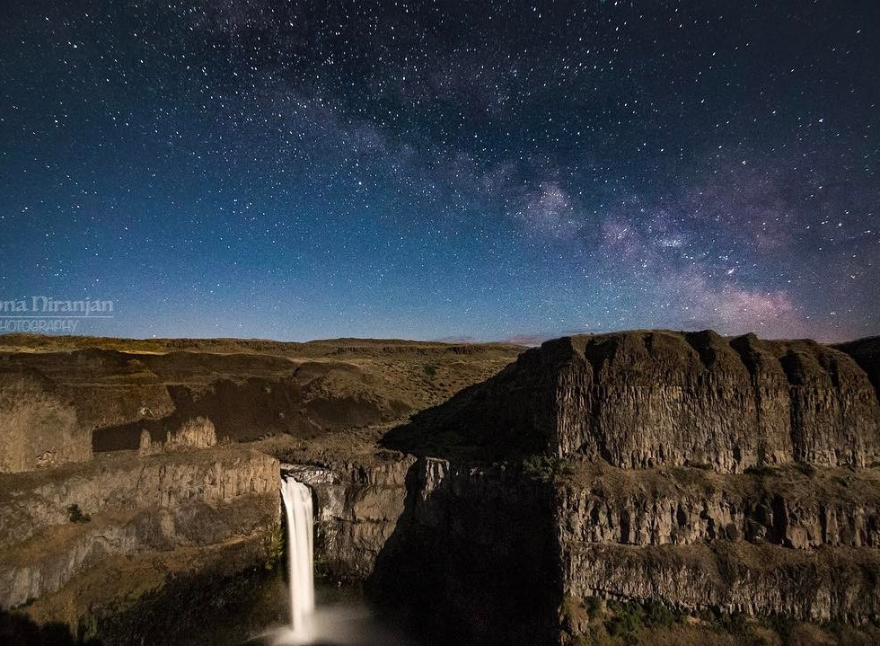 Rachna Niranjan at Palouse Falls...