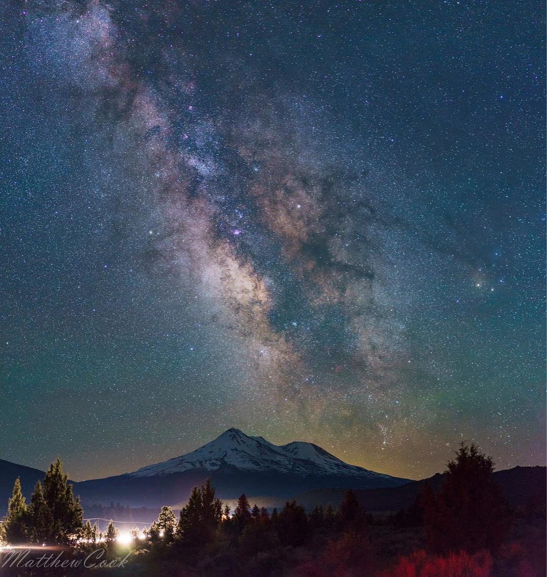 Matthew Cook at Mount Shasta....