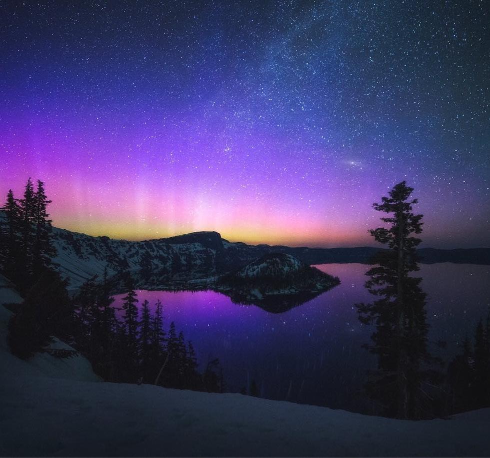 Garret Weintrob at Crater Lake...