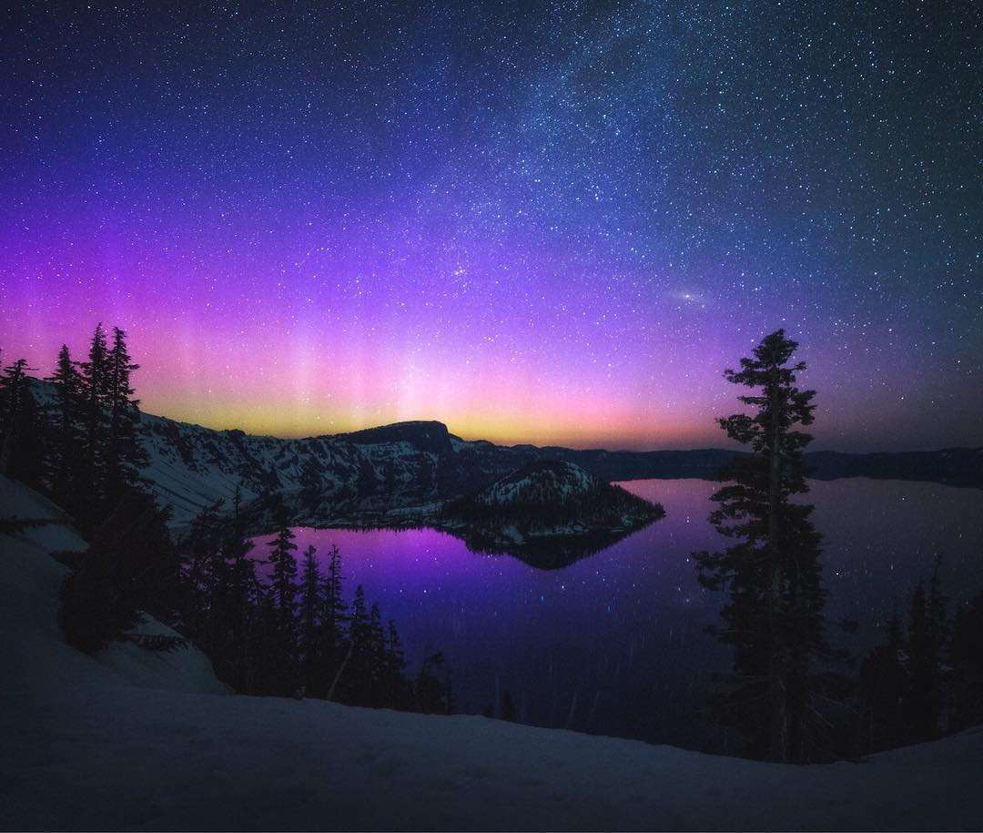 Garret Weintrob at Crater Lake...