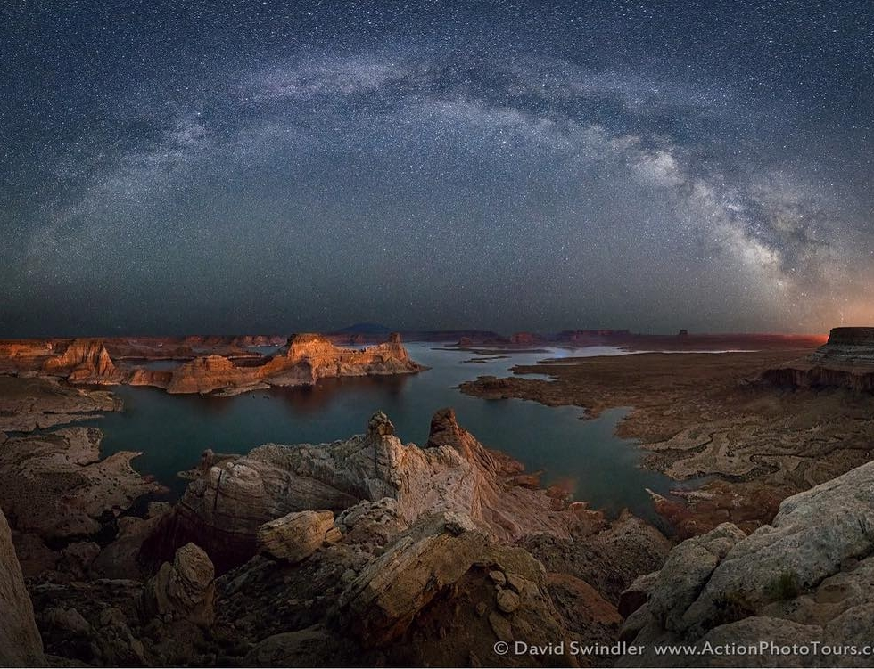 David Swindler above Lake Powell...
