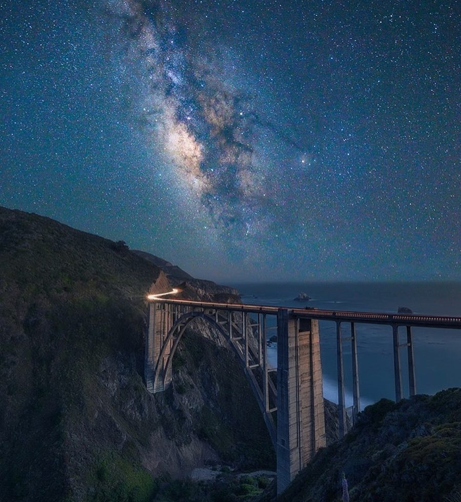 Joshua Crites at Bixby Bridge...