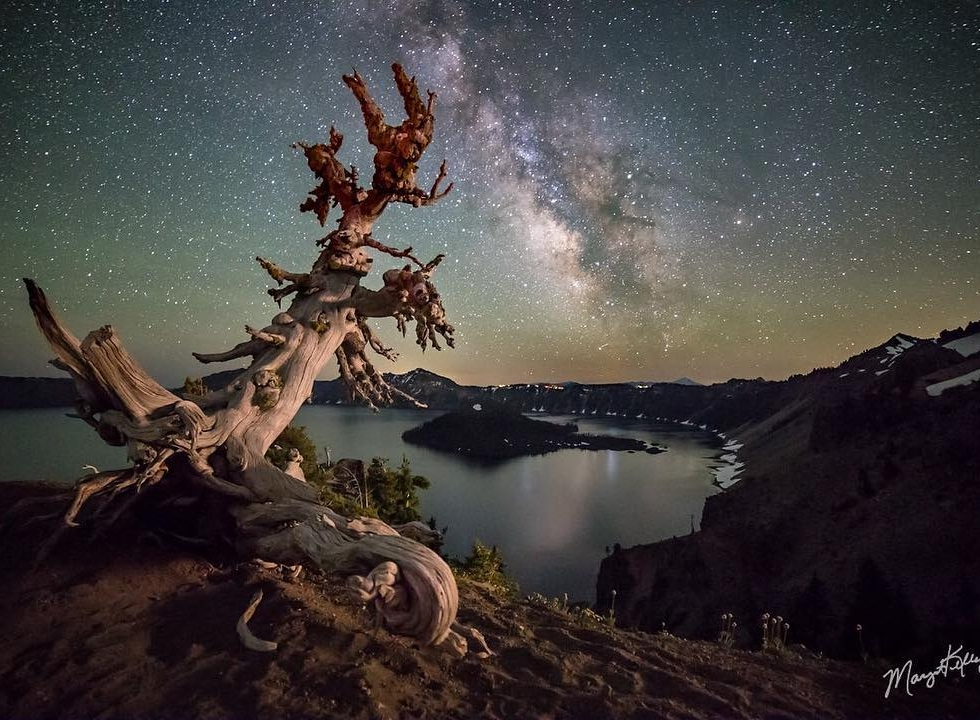 Margot Kelley at Crater Lake...