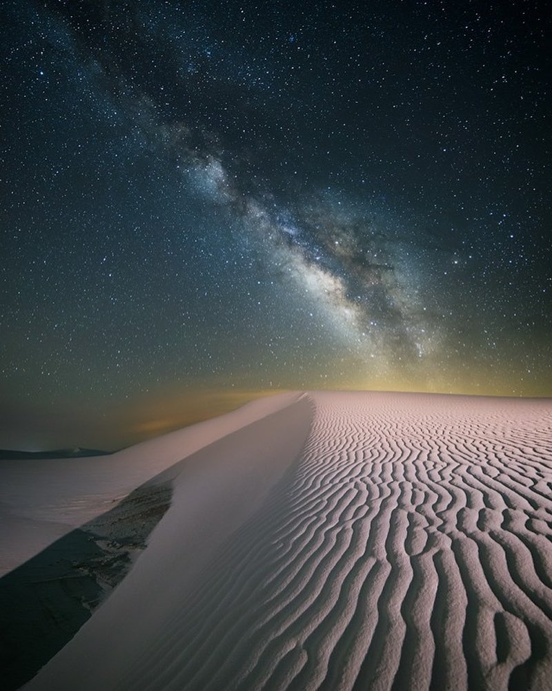 Chung Hu at White Sands...