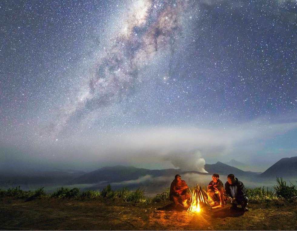 Mary Yap at Mt Bromo...