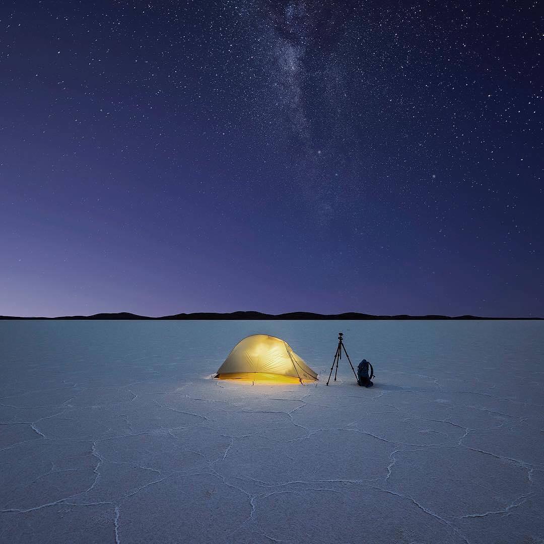 Jay Daley in Lake Gairdner,...