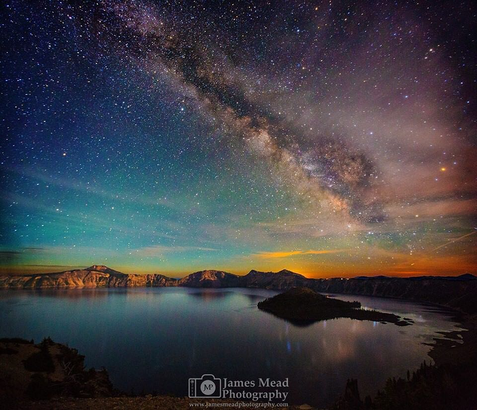 James Mead at Crater Lake...