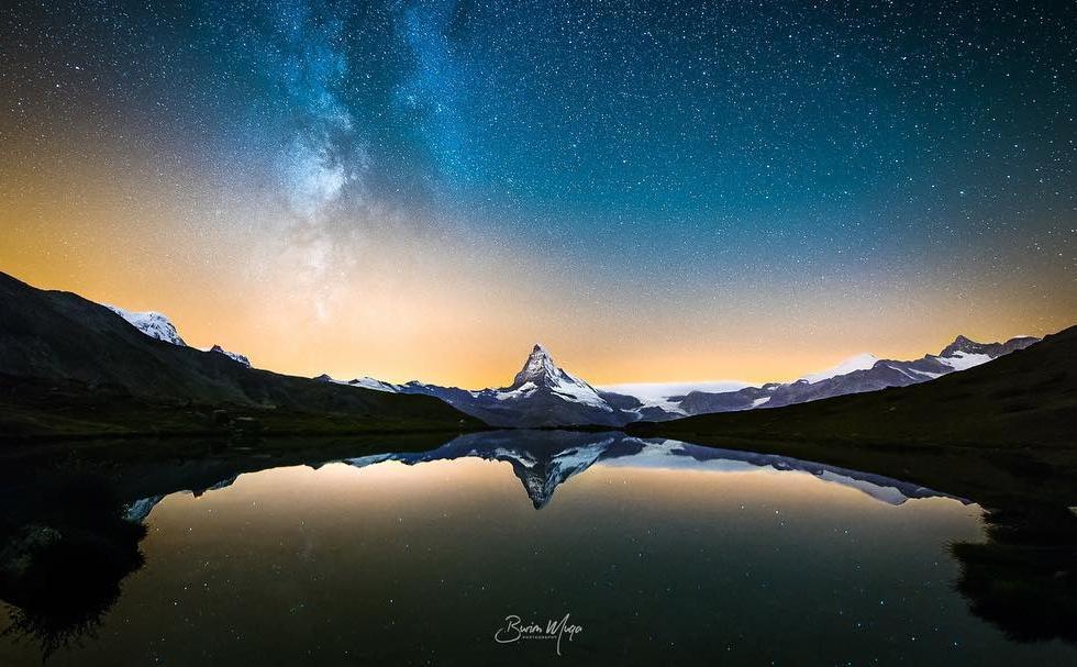 Burim Muqa at the Matterhorn...