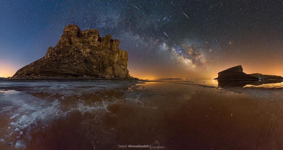 Saeed Ahmadzadeh at Urmia lake...