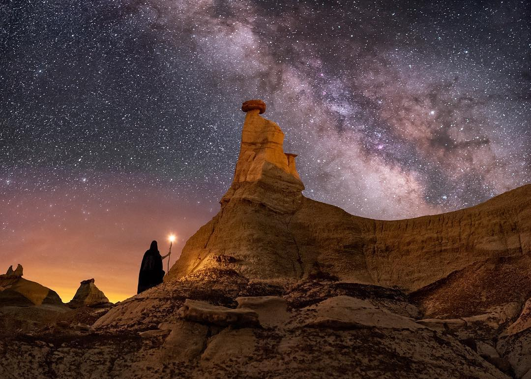 Wayne Pinkston in NM Badlands...